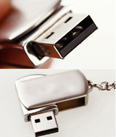 metal usb flash - DHL GB GB GB Swivel Memory Metal Swivel KeyRing Memory Stick Flash Drive Storage USB Silver Metal Swivel KeyRing