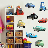 Removable PVC Cartoon New 2014 Novelty Household Art Removable Anime Poster Cartoon Pixar Cars Vehicle Removable Wall Stickers for Child Room Home Design Decorate