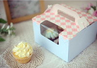 Wholesale x19xH12cm Hold CupCakes packaging Boxes Food Bake Paper cases