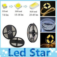 Wholesale 3528 SMD Warm Cool White Waterproof IP65 Led strips light M Leds High bright flexible led lights V M Roll