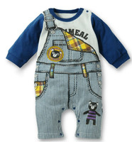 Fake Designer Clothes For Kids Baby Romper boy s Gentleman