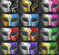 Wholesale Mens Carving Flower Mask Halloween Masquerade Masks Venetian Dance Party Mask Men Mask