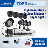 Box/Body KDB8-CARBB44P-1T-EU 8CH H.264 StandAlone DVR Zmodo 600TVL High Resolution Security Camera System 8CH Home CCTV KITS DVR IR Outdoor Night Vision surveillance Camera EU