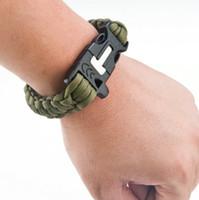 Wholesale Outdoor umbrella rope hand rope emergency survival bracelets bracelets lifeline agents self defense weapons and equipment