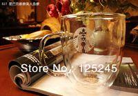 Wholesale Starbucks double wall glass mug bodum double wall glass cup ml oz