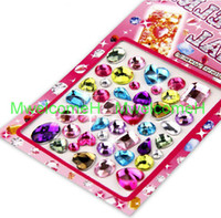 ALL beauty squares - 240Pcs Independent Square Oval Heart Waterdrop Crystall Resin Stones Sticker For Home Decorating Stationery Beauty DIY Color
