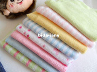 Wholesale brand new towel baby wash cloth quot x9 quot infant towel baby feeding towel handkerchief pack