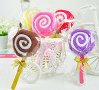 other baby washcloth lollipops - 5PCs Cute Lollipop Washcloth Bridal Baby Shower Wedding Party Favor Small Towel