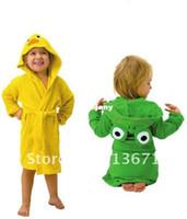bath hoodies - retail HOT SELL new design Terry Bathrobe Hoodie Hoody Costume Bath Towel Baby Robe Kids Robes Baby Cartoon Hooded