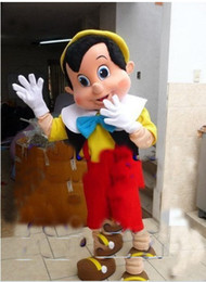 Wholesale Costume Halloween Mascotte - Professional Pinocchio Mascot Costume Adult Size Fairy Tale Characters Mascotte Outfit Suit Party Fancy Dress EMS Free Shipping