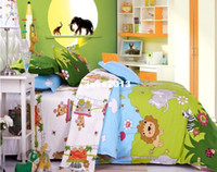 Twill Woven Duvet Cover Set All Sizes Twin Full Queen King Lions Forest Zebra Bedding for Kids, BedClothes Sets, Cotton Bedspread, Sheet and More