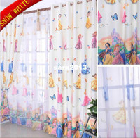 Wholesale Child curtain finished product cartoon print snow white screens girl kids curtain for living room