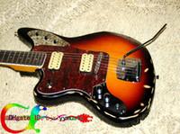 Solid Body jaguar - Left Hand Guitar Custom Old Electric Guitar Sunburst VOS JAGUAR Guitar OEM Guitar HOT