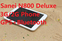 Wholesale 7 INCH Sanei N800 Deluxe G G Phone Call tablet pc Dual core point Capacitive screen G GSM phone GPS Bluetooth