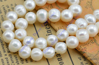 Wholesale 5 Sets mm Natural White Freshwater Pearl Necklace Earrings Set Fashion Jewelry Set amp Bridal Set Geniune Peal Real Pearl