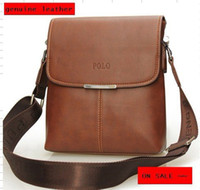 Wholesale HOT Fashion men shoulder bag genuine leather messenger business bag Black Brown COLOR MB07