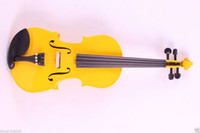 Wholesale String New Electric Acoustic Violin yellow