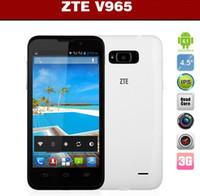 ZTE 4.6 Android4.2 Big sale Quad Core Phone !ZTE V965 4.5 Inch 854x480 Russian MTK6589 Quad Core Mobile Phone Android 4.1 Dual SIM Multi Language