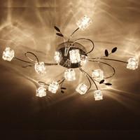 Modern artistic ceiling - 11 G4 Light Artistic Aluminum Flush Mount Crystal Ceiling Light in Polished Chrome Crystal Chandelier Lamps Pendent Light Flush Mount Lights