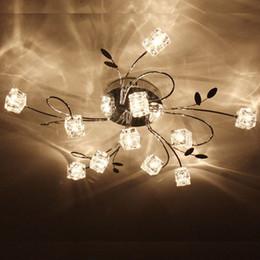 11 G4 Light Artistic Aluminum Flush Mount Crystal Ceiling Light in Polished Chrome Crystal Chandelier Lamps Pendent Light Flush Mount Lights