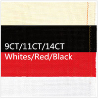 Wholesale Cross Stitch Canvas X59inch CT OR CT OR CT Whites or Red or Black Fabric Great choice Aida Cloth