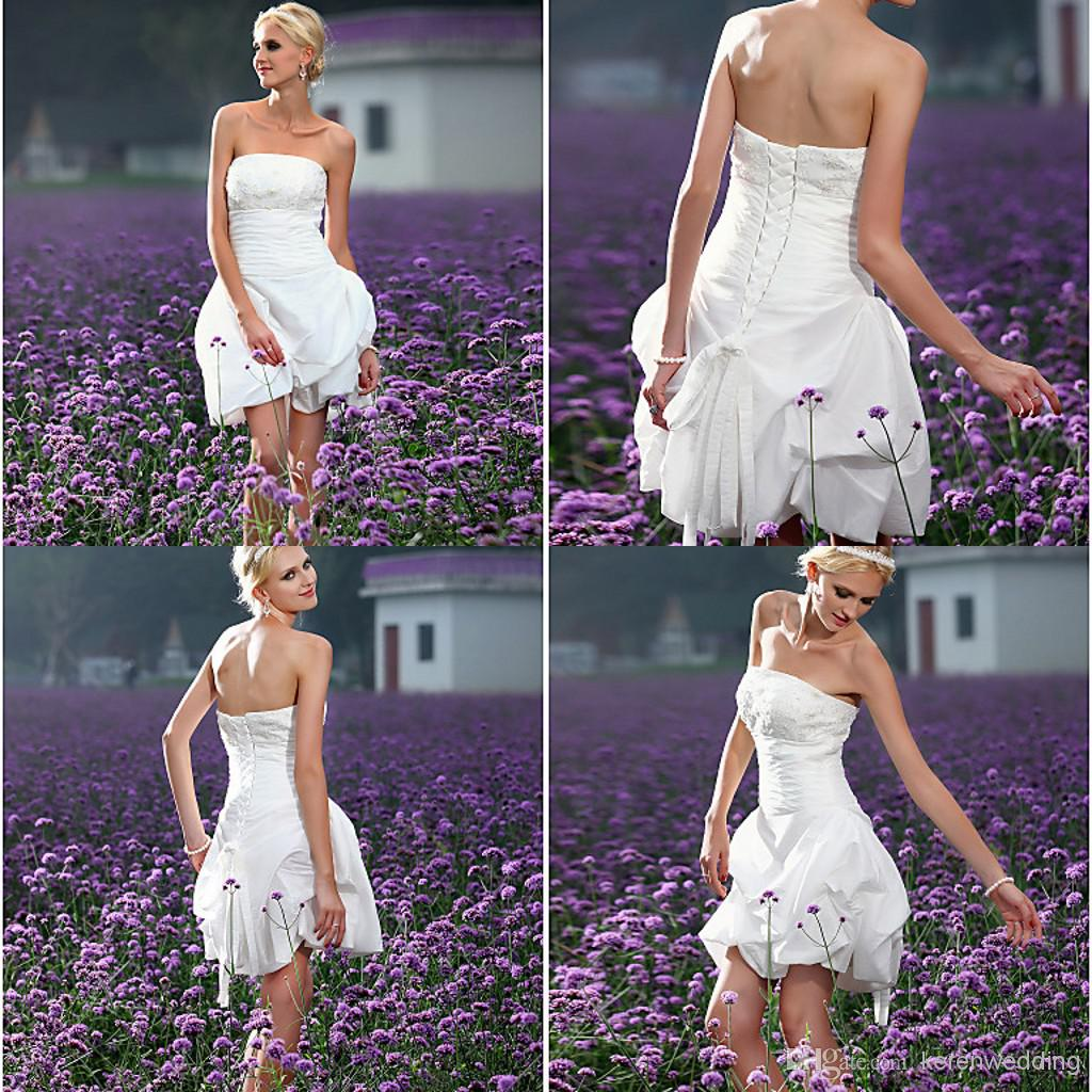 Lq Most Beautiful Strapless 2014 Short Country Wedding