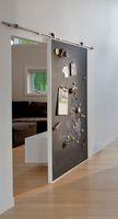 Stocked door hardware - sliding barn door interior stainless steel hardware kit