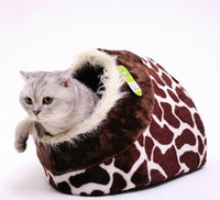 Wholesale Lovely Leopard Print Pet Nest Pet Tent Pet House for Small Dogs PE36