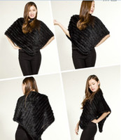 Wholesale New Rabbit Fur Shawl Women Poncho Different Colors Hot Style Best Selling Retail Wholesales OEM Sevice