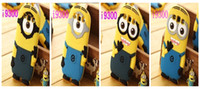 Wholesale 3D cute Despicable Me soft silicone case more minions cover for Samsung galaxy S5 i9600 S3 I9300 S4 I9500