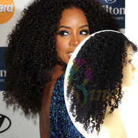 Wholesale Stock afro kinky curl lace front wig for African American women