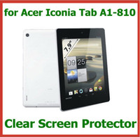 Wholesale 200pcs Customized Transparent Clear Screen Protector for Acer Iconia Tab A1 WIFI Protective Guard Film Size x142mm
