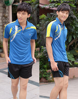 Wholesale 2013 new Li Ning badminton clothing A victory YY men in blue suits