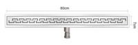 Wholesale 80 cm Stainless Steel Linear Shower Drain with U cut style shower drain channel shower floor drain horizontal drain
