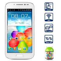 Wholesale Original size S4 G Cellphone i9500 Quad core android MTK6589 Mobilephone with Screen cellPhone DHL Free Ship
