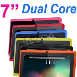 Wholesale Colorful Q88 A23 Dual Core Allwinner Tablet PC Inch Android Jelly Bean GHz RAM MB GB Dual Camera WiFi Multi Touch Q8H Cortex A7