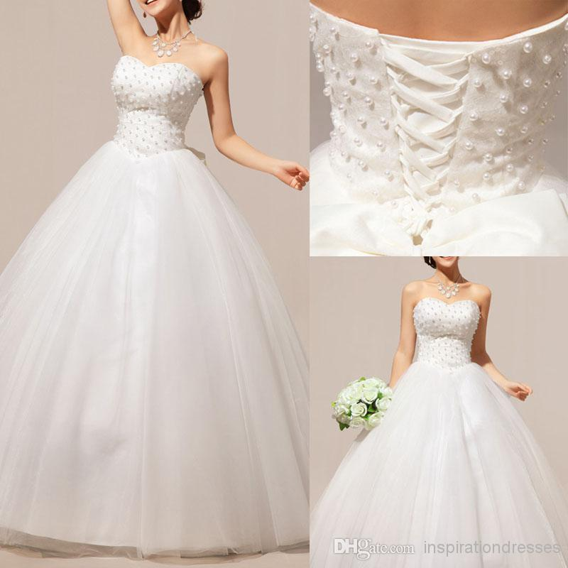 Cinderella ball gown wedding dresses 2014 pearls for Cinderella wedding dress up
