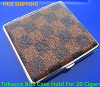 Cheap Chessboard Style Cigarette Box Case Hold For 20 Cigarettes