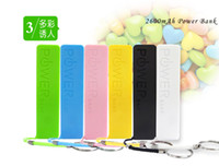 For Apple iPhone Direct Chargers  Perfume 2600mAh Portable Power Bank Color Mixed External USB Micro USB host battery power bank For samsung S4 s3 iphone5 4