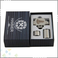 Single Stainless steel Metal Hammer Epipe Mod E-Cigarette E Pipe Mod Mechanical Stainless Steel E-pipe Working with 18350 Battery DHL free Electronic Cigarettes Kits
