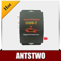 DC12V-1A 2 audio output  Car ISDB-T mobile digital tv box tuner Receiver for Brazil support 250km h and with 2 video output