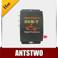 DC12V-1A 2 audio output  Car TV Tuner DVB-T MPEG-4 Digital TV BOX Receiver Mini TV Box Free shipping