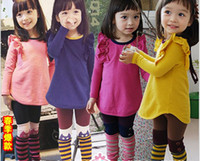 Wholesale New Arrival Children Clothing Set Long Sleeve Fly T Shirt Dress Stripe Leggings Girls Set Kids Tight Pants Suit For Spring Autumn QZ384