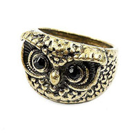 Wholesale S5Q Fashion Royalty Vintage Cute Owl Bird Jewelry Pendant Ring Girl Ladies Gift AAAAIO