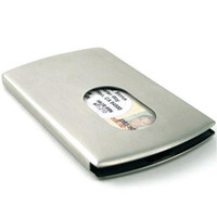 business cards - S5Q Sliding Stainless Steel Business Name ID Credit Card Case Holder Box Gift AAAAIN