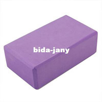 Wholesale Freeshipping Yoga Block Foaming Foam Block Home Exercise Tool Purple