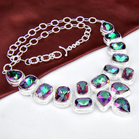 Wholesale natural gemstone sterling silver jewelry necklace jewelry M001