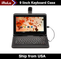 iRULU 9 MID 9 pouces écran Android Tablet PC Quad Core Dual Camera Allwinner A33 8GB 512MB capacitive WiFi Bundle Keyboard Case