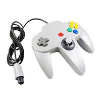 Precio de Pc shock del sistema-S5Q nueva moda blanca cableado controlador de juegos de PC para Nintendo 64 N64 Regalo del sistema AAAATN