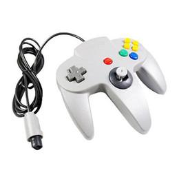 S5Q nueva moda blanca cableado controlador de juegos de PC para Nintendo 64 N64 Regalo del sistema AAAATN desde pc shock del sistema proveedores